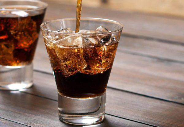 Пропорции виски с колой со льдом
