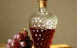 Настойка на винограде в домашних условиях — на спирту, на водке, на самогоне