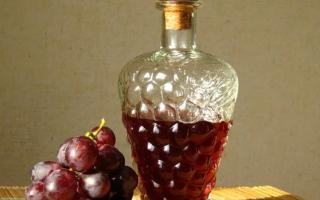 Настойка на винограде в домашних условиях – на спирту, на водке, на самогоне