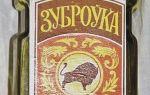 Настойка Зубровка (Zubrowka): описание напитка, история и виды марки производства