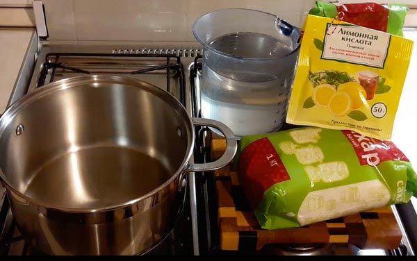 Инвертирование сахара для браги лимонной кислотой – пошаговый рецепт